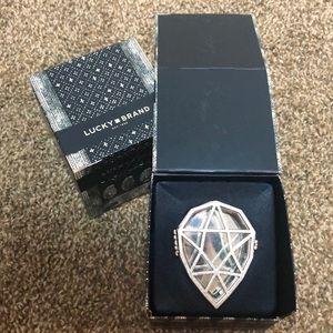 GEMSTONE mirrored jewelry box with latch